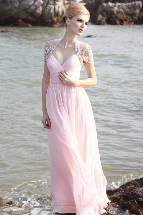 Свадебные  розовые платья