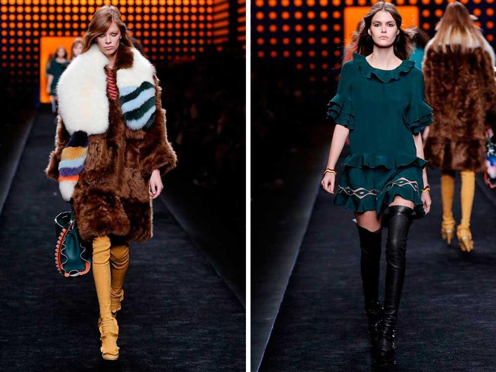 Коллекция Fendi. Одежда, сумки, очки. Фото с сайта.