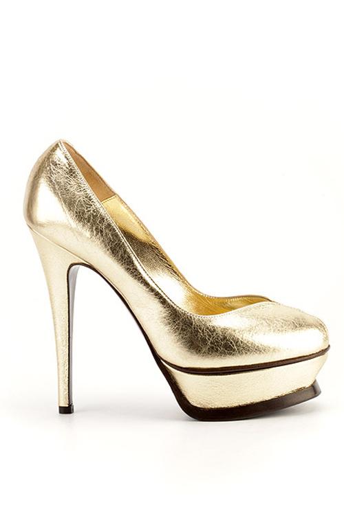 Свадебные туфли под золото и серебро.