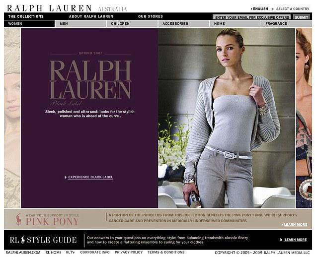 Ralph Lauren. Официальный сайт Ральф Лорен