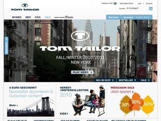 Официальный сайт Tom Tailor