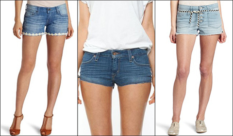 Denim-Shorts